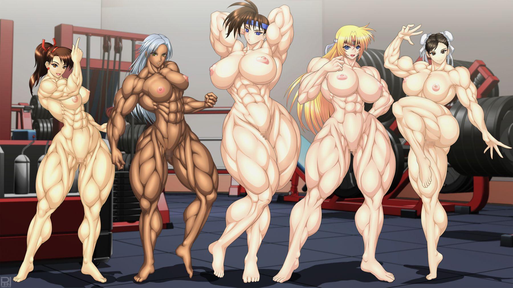 Muscle Girl Animation