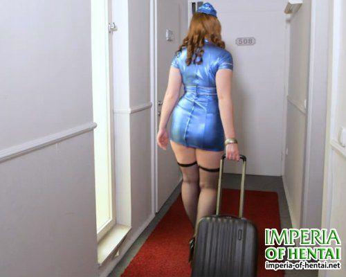 Stewardess Tiffany got on a big dick
