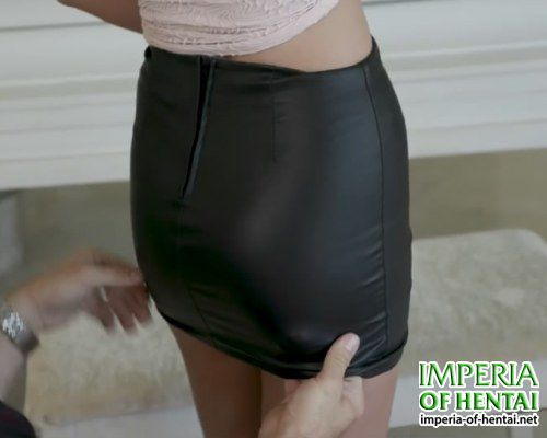 Jill in a mini skirt has a sexy look