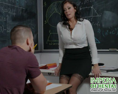 Amanda learns sex with a student
